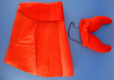Halloween Dog Devil Costume Red Cape Felt Horns Size Small