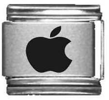 Clearly Charming Apple Laser Italian Charm
