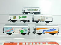 BB156-1# 5x Märklin H0/AC Güterwagen: Gösser ÖBB+Pilsner CSD+Ovomaltine SBB etc