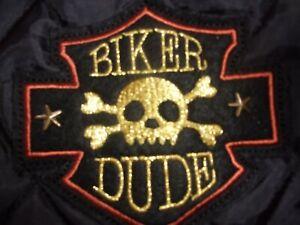 BIKER DUDE Skull Fur Hoodie Jacket Simply Dog XS S XSmall Small new pet coat