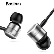 Baseus HIFI Stereo Bass Sound Earphone In Ear Mic Headset 3.5mm AUX Wire Earbuds