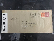 1940s England Censored Cover to Afsc Usa