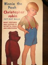 Winnie the Pooh+ Christopher Robin Paper Dolls by Queen Holden