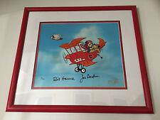 """""""Dastardly and Muttley"""" cel Signed by Bill Hanna & Joe Barbera Ltd Edn UACC RD"""