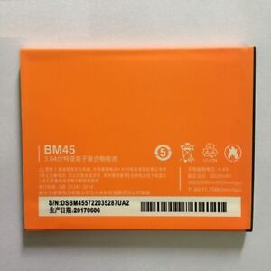 Original Backup 3020mAh Battery For Xiaomi BM45 Redmi Note 2 Smart Mobile Phone