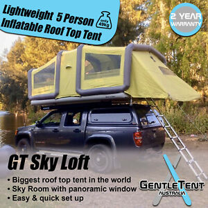 GentleTent GT Sky Loft lightweight inflatable 5 person roof top tent