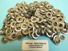 (300) #10 Tinnerman Stainless Dimpled Washers NAS1169C10 Aircraft Race Sprint