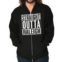 Straight Outta Raleigh, NC City Funny Movie T Shirt Gift Ideas Zipper Hoodie