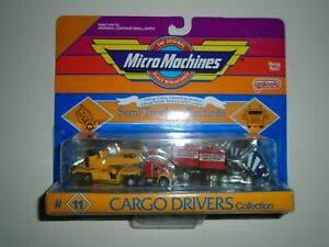 RARE LOT 2nd SERIES 1990 MICRO MACHINES SEMI TRUCK COLLECTION CARGO DRIVERS #11