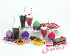 """Sophia's 27 piece Soda & Sweets for 18"""" American Girl Doll food"""
