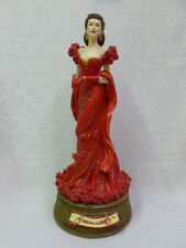 """San Francisco Music Box Company Gone With The Wind Scarlett Red Dress 19"""" Tall"""