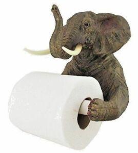 Wall Mounted Elephant Toilet Roll Holder Novelty Bathroom Ornament Tissue Holder