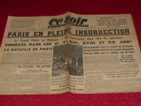 "[ Press WW2 39-45] "" Tonight "" #912/24 August 1944 Release Paris Aragon Parrot"