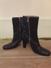 Quality BALLY Victorian Black Leather High Ankle Boots - UK Size 5 - EU 38
