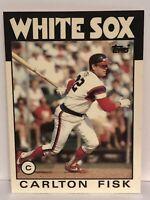 1986 Topps Tiffany Carlton Fisk baseball card Chicago White Sox NrMt-Mint  #290