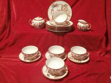 Hauchfeines Chinesisches Tee Service Teeservice Geisha Lithophanie Bodenbild
