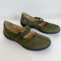Hotter Comfort Concept Olive Green Shake Mary Jane Shoes Womens size 9.5 US