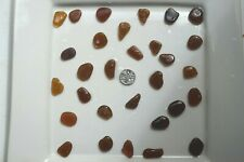 English Sea Glass from Cornwall  ...... 30 large BROWN coloured pieces