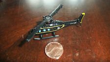 MICRO MACHINES Black BELL 222 HELICOPTER -BOND The Spy who loved me Strombergs