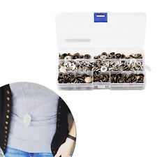 100pcs S-Spring Snap 15mm Press Studs Buttons with 4pc set Fixing Hand Tool Kit