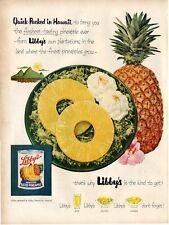 1953 Libby's Pineapple Salad Great fun kitchen or nook Vintage decor PRINT AD