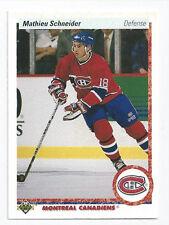 Mathieu Schneider Canadiens 1990-1991 Upper Deck  #334