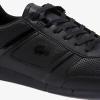 Lacoste Menerva 120 2 Mens Casual Black Leather Fashion Flat Shoes 39CMA0042-02H