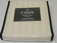 one new CHAPS Damask Stripe bedskirt pima cotton chap bed full queen cal & king