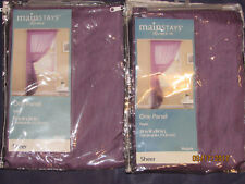 Two New Mainstays Home Sheer Curtain - Marjorie - Purple
