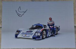 "Derek Bell Signed 12"" x 8"" Colour Photo Le Mans 24 Hour With COA #2"