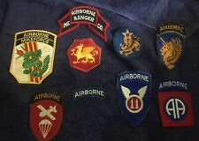 Vintage Military Airborne Patches Lot Of 9