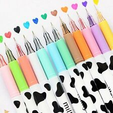 12/lot Colorful Cow Print Gel Pens Cute Kawaii Students Office Accessories Gift