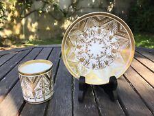 Tasse Litron En Porcelaine Et Or Style Empire . Sevres ? Dagoty Paris ?