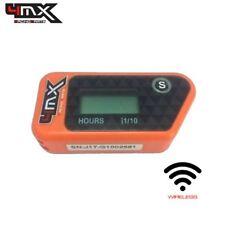 4MX Orange Wireless Motorcycle Engine Vibration Hour Meter to fit Suzuki GS750