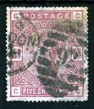 GB REGINA VITTORIA 1884 cinque scellini ROSE BlueD LIBRO SG 176 (specializzati K11)