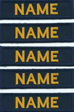 Navy with Gold Name X 5 Name Strips Name Tags Tapes Garda Military Issue