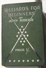 Libro De Billar Billar para principiantes por John Roberts 1903