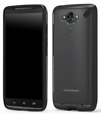 PUREGEAR SLIM SHELL BLACK/CLEAR CASE COVER FOR MOTOROLA DROID TURBO XT1254