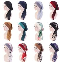 Ladies Chemo Pirate Cap/Hat Muslim Hair Loss Head Scarf Turban Head Wrap lskn