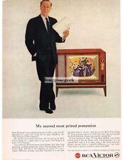 1959 RCA VICTOR Color TV CYRIL RITCHARD VTG PRINT AD