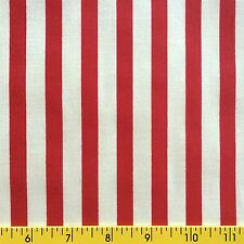 I LOVE AMERICA cotton fabric for sewing quilting STRIPES Americana RED WHITE