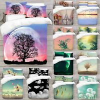 UK Made 3D New Mix Nature Design Photo Digital Duvet Quilt Cover With Pillowcase
