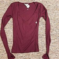Cape Juby NWT Blouse Shirt Top Women's Extra Small XS Purple Ribbed Long Sleeve