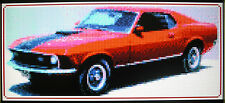 1970 FORD MUSTANG (CLASSIC CAR) ~ Counted Cross Stitch KIT #K987