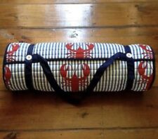 Tommy Hilfiger Quilt Rollup Beach Pool Lounge Pillow Mat Blanket Shoulder Strap