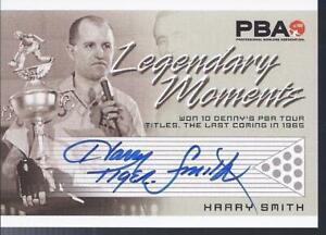 2008 PBA Bowling Autograph Legendary Moments Harry Smith