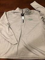 NWT Men's Adidas Antioch University Midwest Pullover Jacket Size 2XL Hther Gray