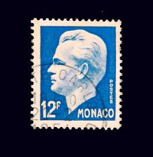 1950-51  Monaco Stamp  / Prince Rainier   / Used
