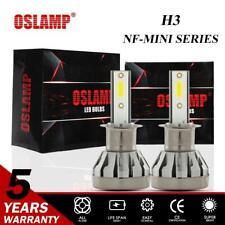 2x H3 LED Headlight Bulb Conversion Kit 1500W 255000LM 6000K Fog Driving Light