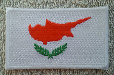 CYPRUS FLAG PATCH Embroidered Badge Iron Sew 3.8cm x 6cm Κύπρος Kıbrıs Cypriot